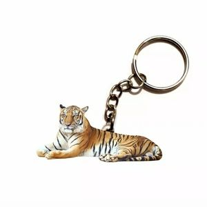 New Double Sided Acrylic Tiger Keychain.